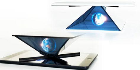 Imagem de Conheça o aparelho capaz de transformar tablets em projetores de hologramas no site TecMundo