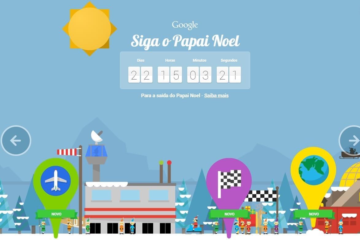Imagem de Siga o Papai Noel: Google renova plataforma natalina com vários games no site TecMundo