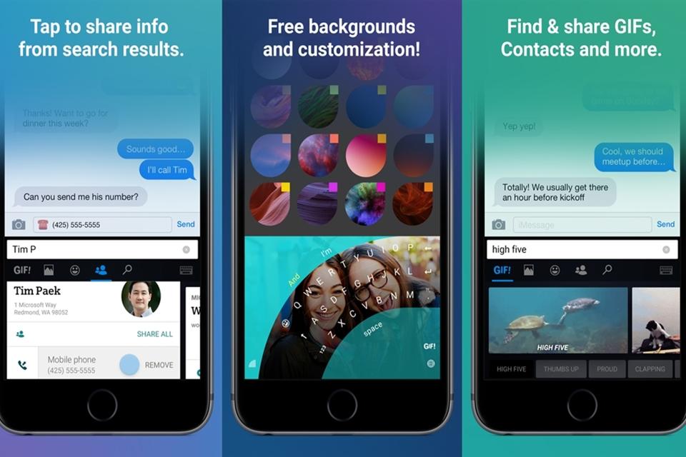 Imagem de Atualizado, teclado da Microsoft para iOS ganha GIFs, busca embutida e mais no tecmundo