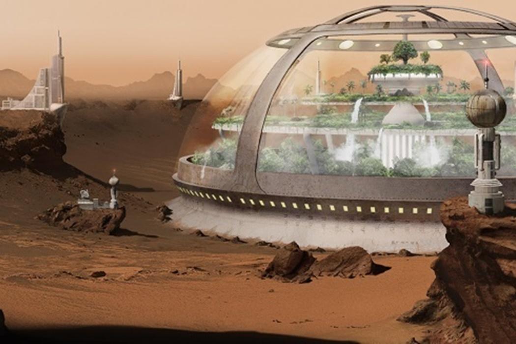 Imagem de Elon Musk: humanos viveriam em redomas de vidro em Marte no tecmundo