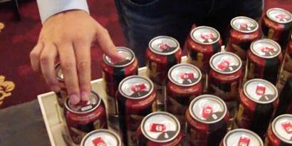 Imagem de Teclado inovador utiliza latas de cerveja como teclas [vídeo] no site TecMundo