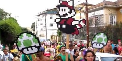Imagem de Super Mario vira bloco de Carnaval no Rio de Janeiro [vídeo] no site TecMundo