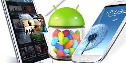 """Imagem de Samsung afirma que Galaxy S3 e Galaxy Note receberão o Jelly Bean """"muito em breve"""" no site TecMundo"""