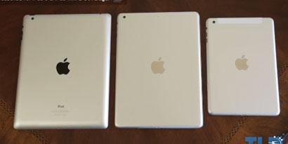 Imagem de Site compara provável iPad 5 com o seu antecessor no site TecMundo