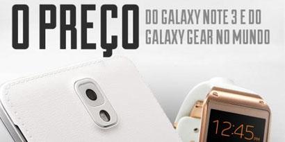Imagem de Galaxy Note 3 e Galaxy Gear brasileiros estão entre os mais caros do mundo no site TecMundo