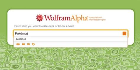 Imagem de Wolfram Alpha agora conta com biblioteca de dados sobre Pokémons no site TecMundo