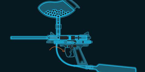 Imagem de Como funciona uma arma de paintball? [ilustração] no site TecMundo