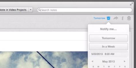 """Imagem de Evernote ganha função de lembretes e vira """"lista de tarefas"""" no site TecMundo"""