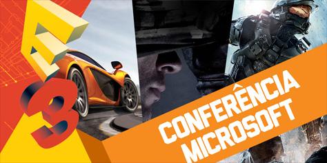Imagem de Resumo: conferência da Microsoft na E3 2013 [vídeo] no site TecMundo
