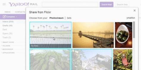 Imagem de Yahoo! Mail passa a permitir o carregamento de imagens direto do Flickr no site TecMundo