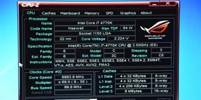 Imagem de Overclock leva Intel Haswell Core i7-4770K a 6,88 GHz no site TecMundo