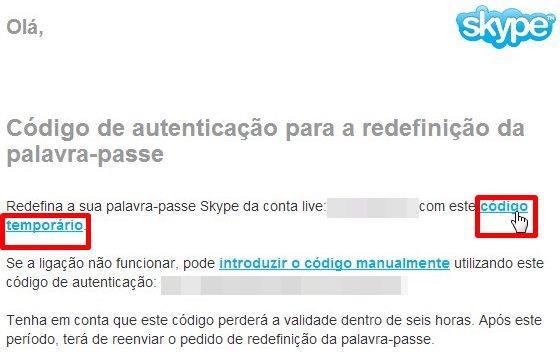 """Em seu email, clique no link """"código temporário"""". Pronto! Agora é só criar  uma nova senha ... 561142c189"""