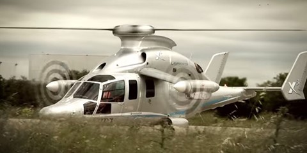 Imagem de Helicóptero Airbus X3 usou três hélices para quebrar recorde de velocidade no site TecMundo