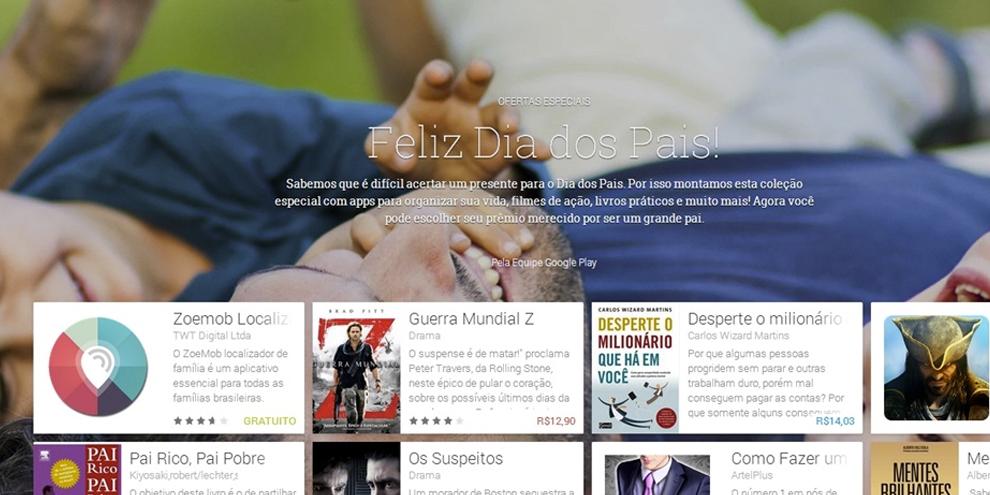 Imagem de Google Play faz seleção de aplicativos especial para o Dia dos Pais no site TecMundo