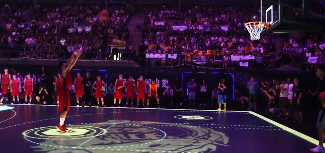 Imagem de Nike monta quadra de basquete com chão de LED na China [vídeo] no site TecMundo