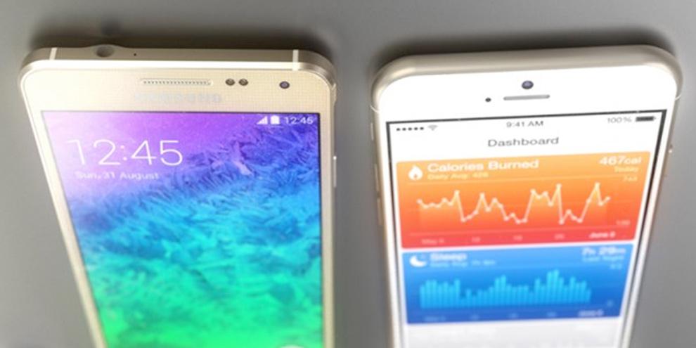 Imagem de iPhone 6 vs Samsung Alpha: modelos virtuais em 3D são criados por artista no site TecMundo