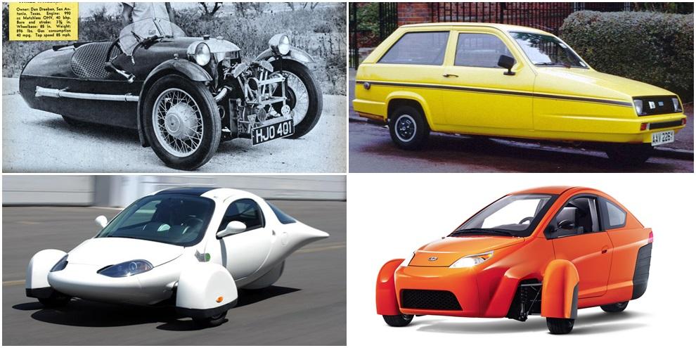 Imagem de Os carros de três rodas e suas aparições ao longo da História no site TecMundo