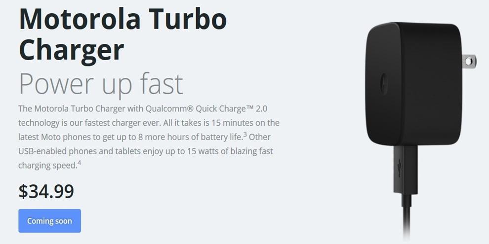 Imagem de Carregador Motorola Turbo Charger traz 8 horas de bateria em 15 minutos no site TecMundo