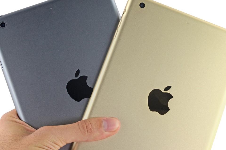 Imagem de iPad mini 3 tem sensor do Touch ID preso com cola e manutenção difícil no site TecMundo