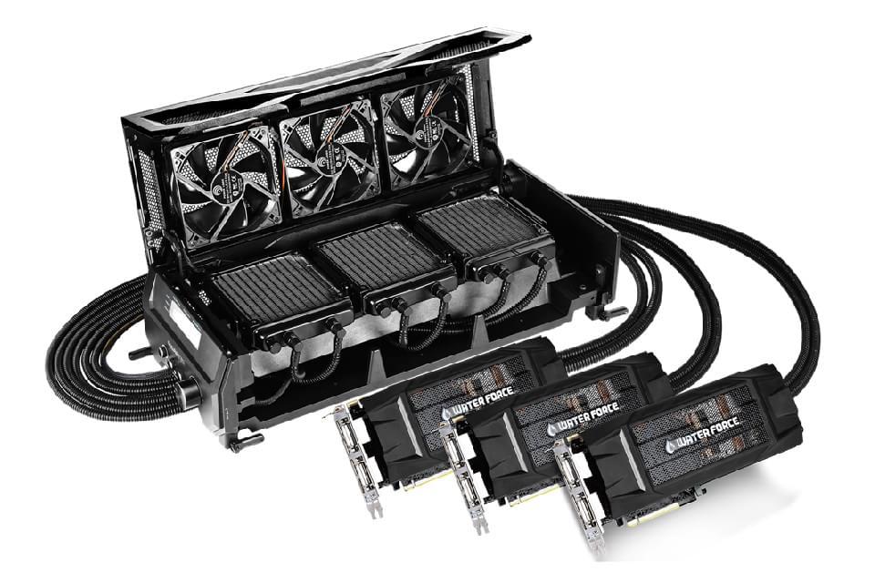 Imagem de GeForce GTX 980 WaterForce tri-SLI: só não vale babar no site TecMundo