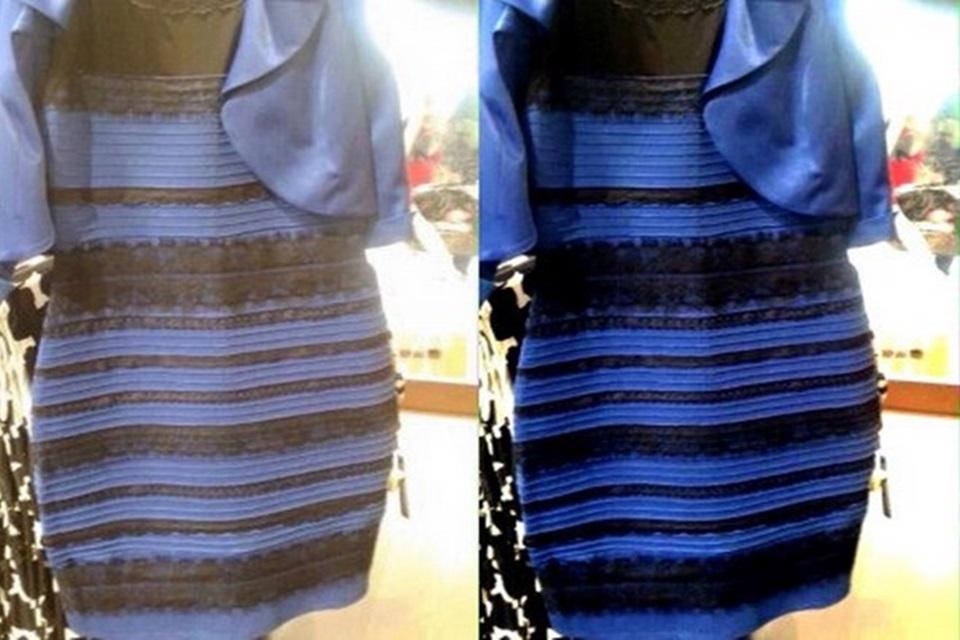 Imagem de Facebook: 58% das pessoas enxergam o vestido em branco e dourado no site TecMundo