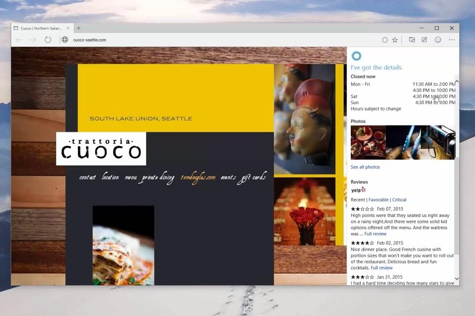 Imagem de Spartan! Veja a Cortana em ação no Internet Explorer do Windows 10 [vídeo] no site TecMundo