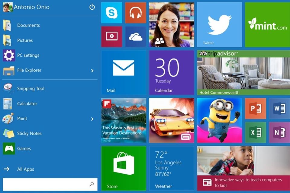 Imagem de Windows 10: como organizar os ícones no Menu Iniciar ou na Tela Iniciar no site TecMundo