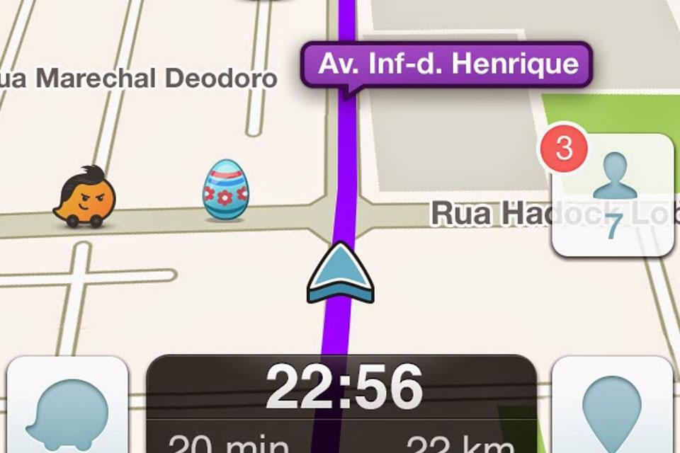 Imagem de Coelho da Páscoa espalha ovos pelos mapas do Waze no site TecMundo
