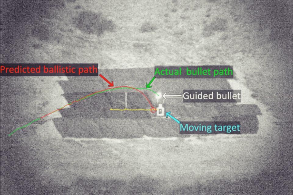 Imagem de DARPA demonstra bala inteligente que muda trajetória para acertar o alvo no tecmundo
