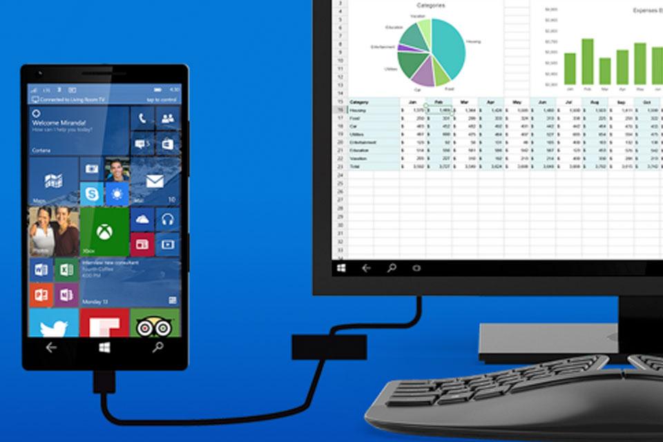 Imagem de Continuum: recurso transforma smartphones com Windows 10 em computadores no tecmundo