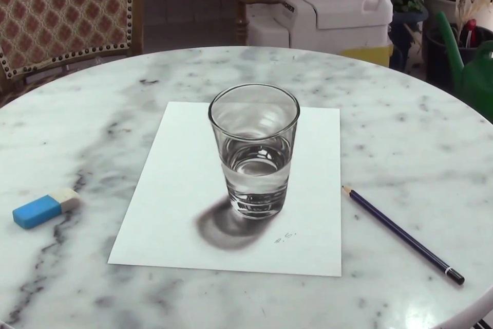 Imagem de Desenho de copo de água parece até uma fotografia de tão realista [vídeo] no tecmundo