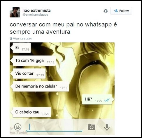 Resultado de imagem para conversas engraçadas do whatsapp