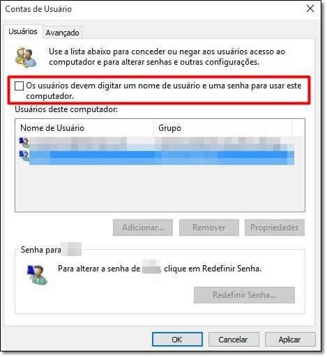 Em um piscar de olhos  como iniciar o Windows 10 sem digitar senha ... 9d3556624663