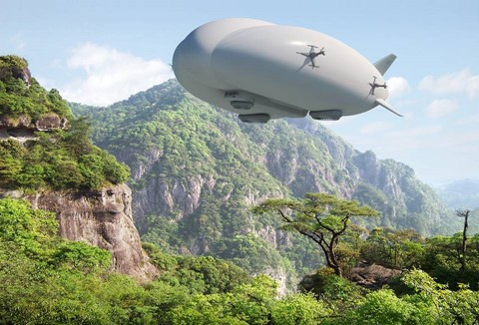 Imagem de Veículo híbrido é uma mistura de dirigível, avião, helicóptero e caminhão no tecmundo