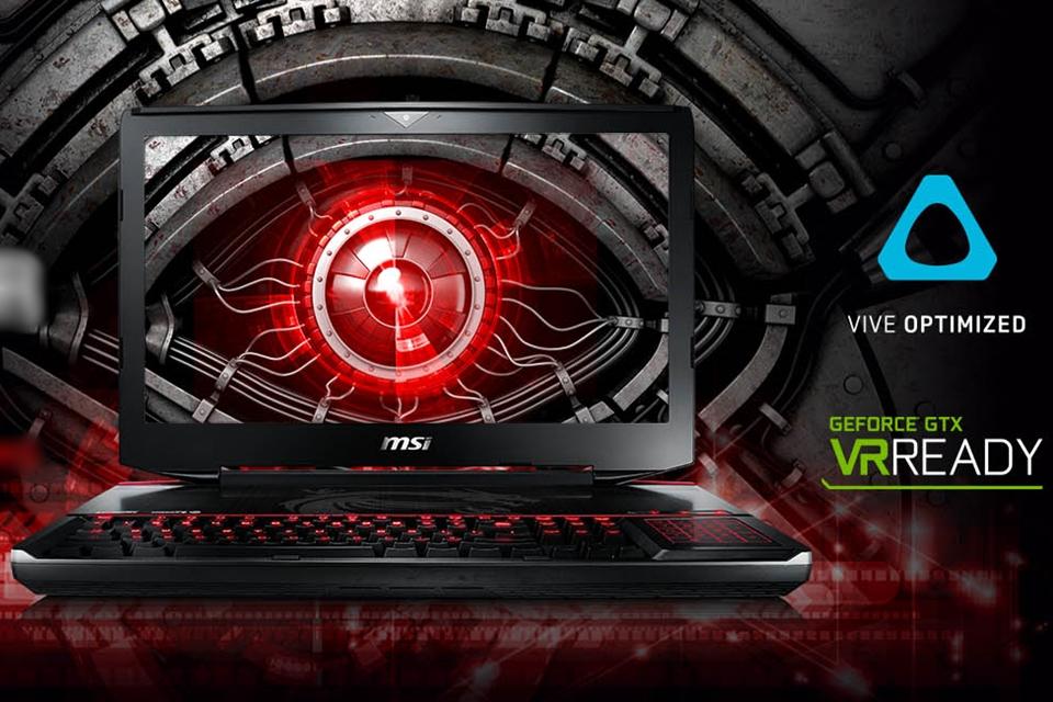 Imagem de MSI anuncia notebooks certificados para rodar conteúdo VR com o HTC Vive no tecmundo