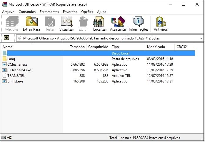 compactador de arquivos iso
