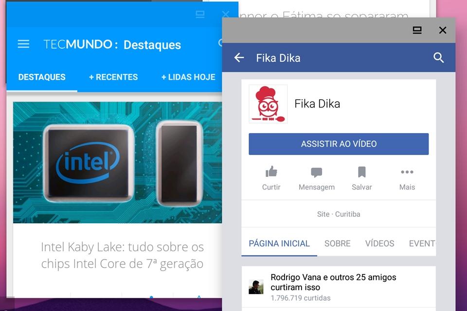 Imagem de Android 7.0 Nougat: como ativar as janelas flutuantes e usar múltiplos apps no tecmundo
