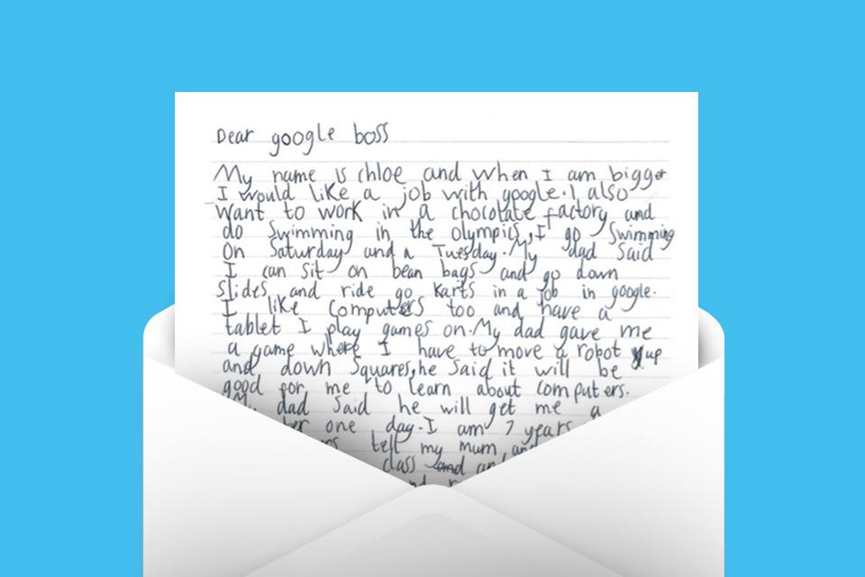 Imagem de CEO da Google responde carta de menina de 7 anos que quer trabalhar lá no tecmundo