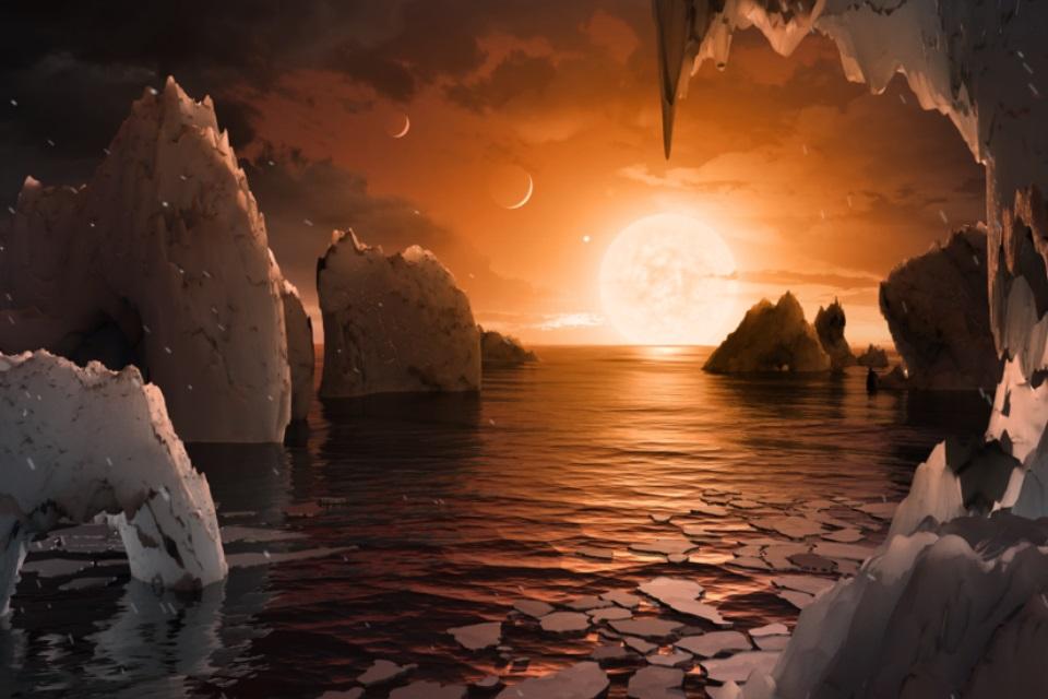 Imagem de NASA anuncia descoberta de sistema solar com 7 planetas como a Terra no tecmundo