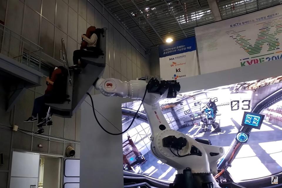 Imagem de Máquinas que parecem robôs gigantes proporcionam a melhor experiência de VR no tecmundo