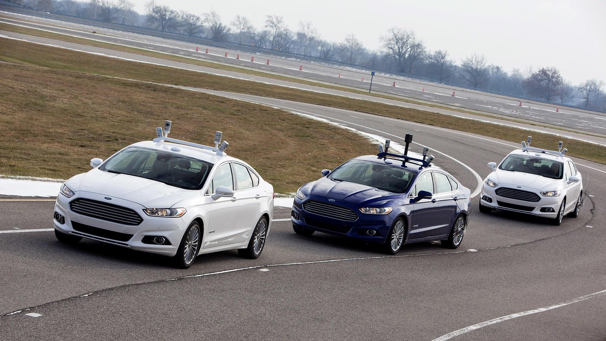Carros autônomos da Ford em fase de testes