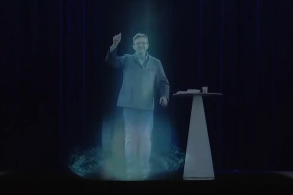 """Imagem de Político francês usa """"holograma"""" para estar em vários locais ao mesmo tempo no tecmundo"""