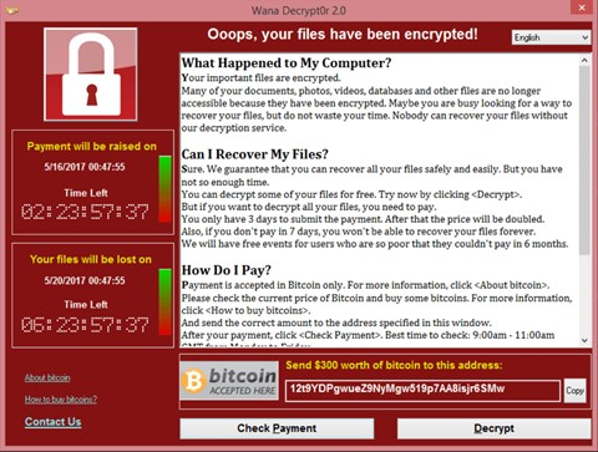 Imagem de WannaCry, o ransomware que fez o mundo chorar na sexta-feira (12) no tecmundo