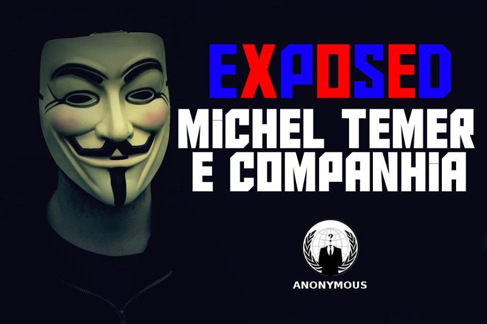 Imagem de Anonymous expõe dados sensíveis de Michel Temer e ministros do governo no tecmundo