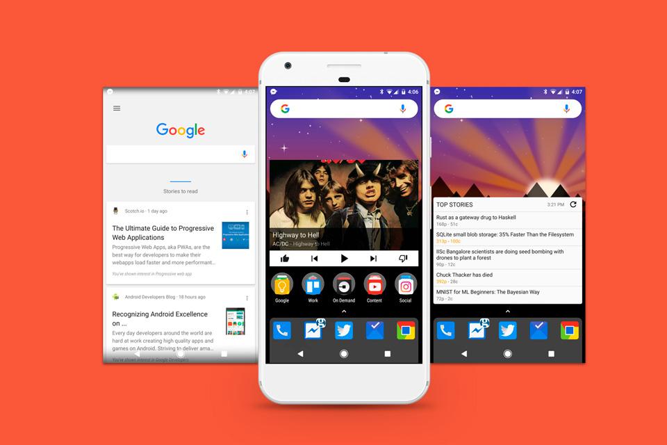 Imagem de Nova Launcher, app que customiza Android, ganha painel lateral Google Now no tecmundo