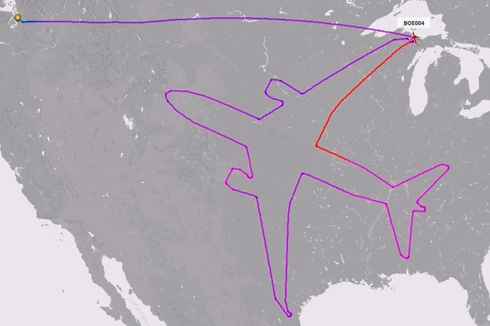 Imagem de A Boeing usou um avião para desenhar outro avião nos EUA no tecmundo