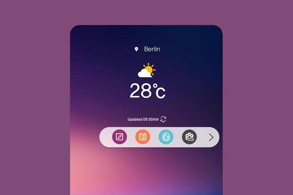 Imagem de LG mostra nova interface do V30, com visual renovado e barra flutuante no tecmundo