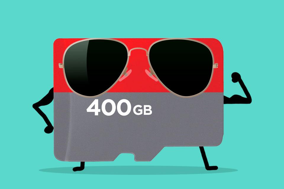 Imagem de Com 400 GB, novo cartão microSD da SanDisk é o maior já lançado até agora no tecmundo