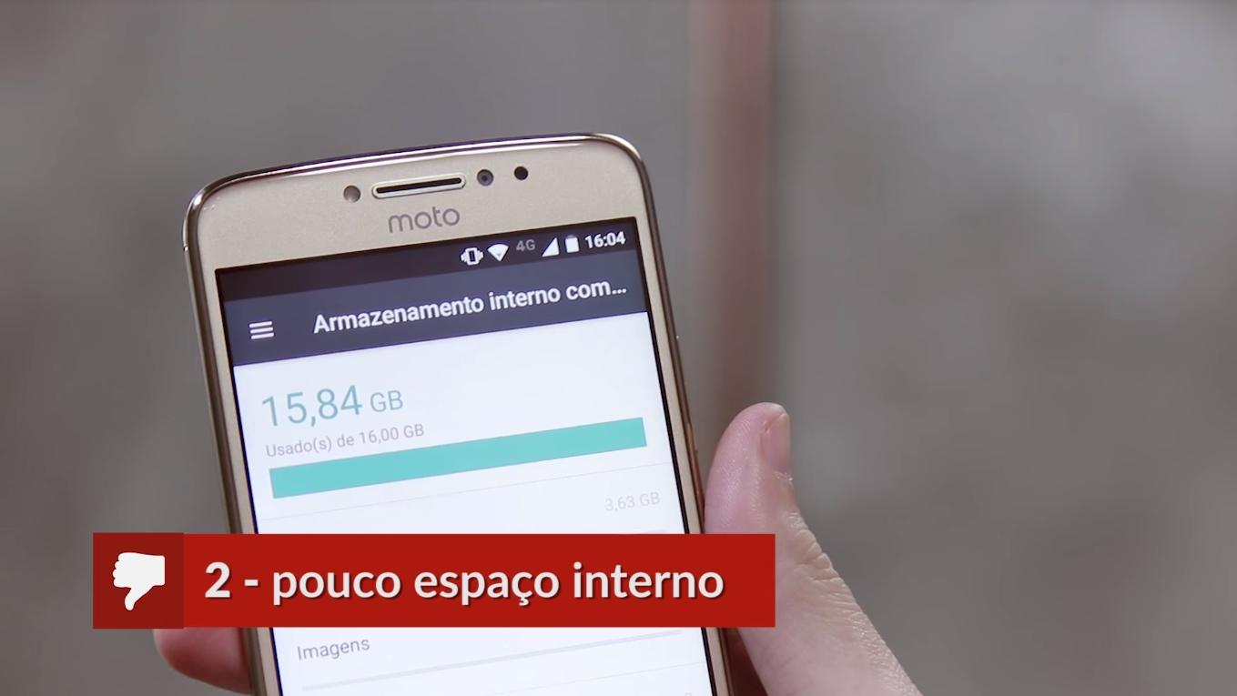 Armazenamento do Moto E4 Plus
