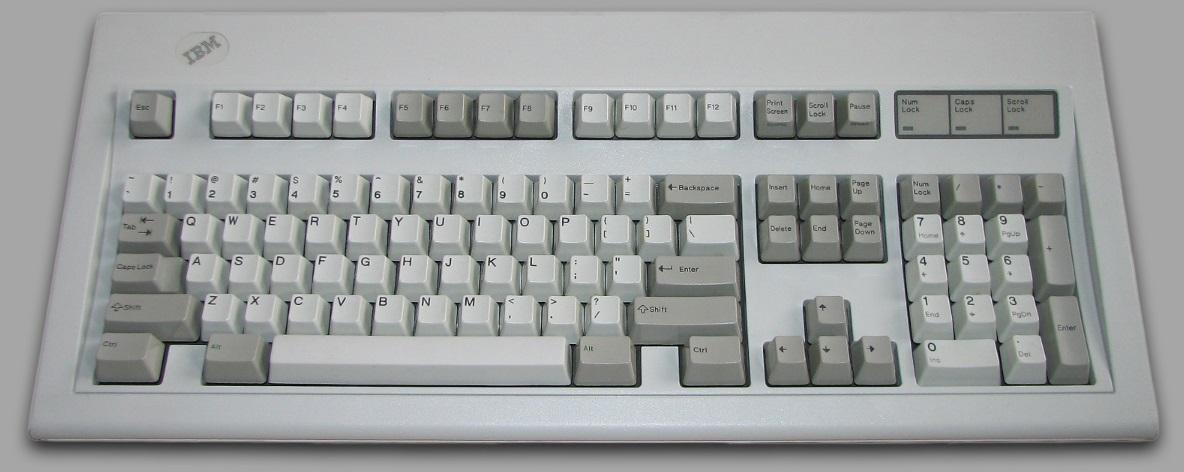 Um teclado de computador